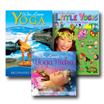 COMBO: DVD: Little Yogis + Beginners Workout + CD: Yoga Nidra -Yoga Sleep for Complete Rest and Relaxation