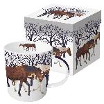 Mug: Winter Horses w/ Gift Box